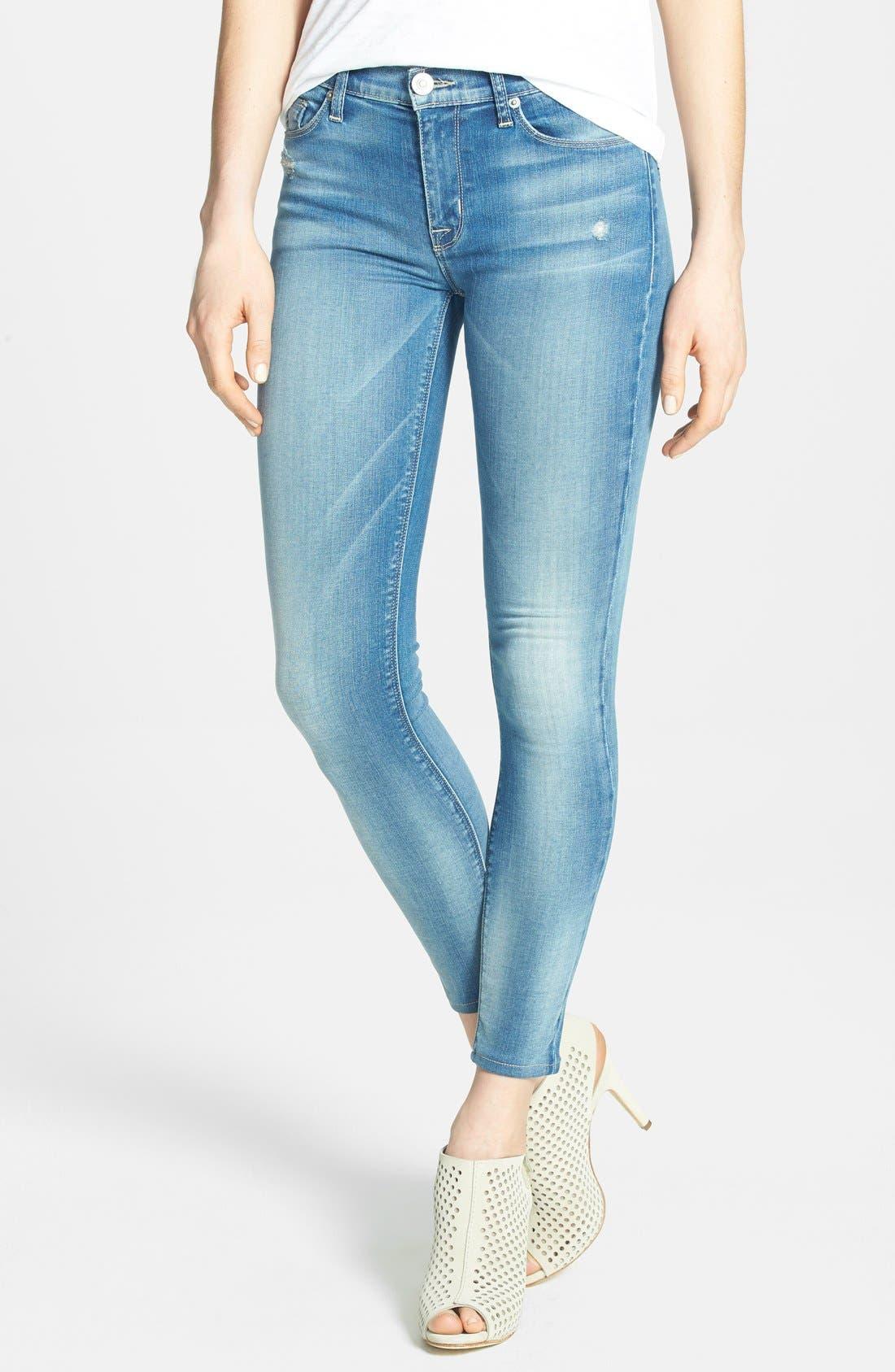 Main Image - Hudson Jeans 'Krista' Crop Skinny Jeans (Voodoo Child)