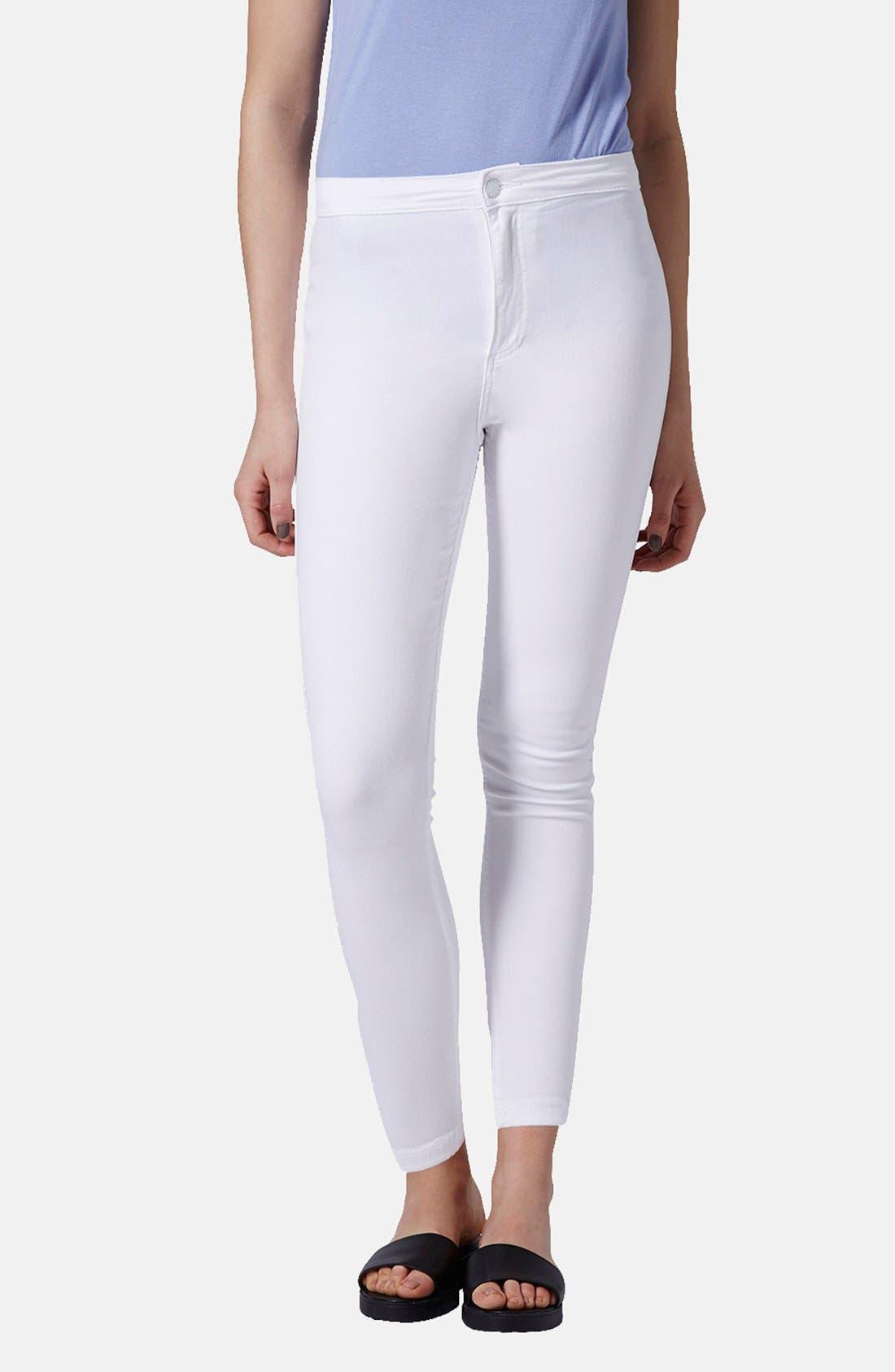 Main Image - Topshop Moto 'Joni' High Rise Skinny Jeans (Petite)