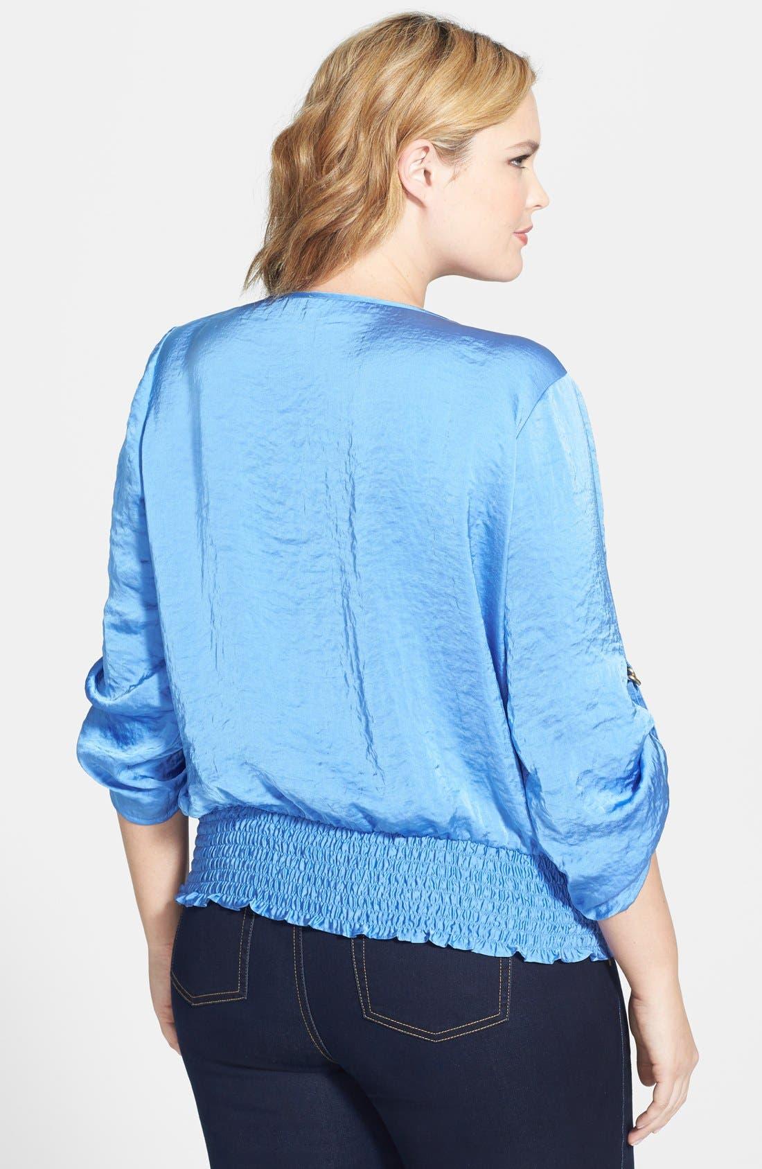 Alternate Image 2  - MICHAEL Michael Kors D-Ring Sleeve Kimono Top (Plus Size)