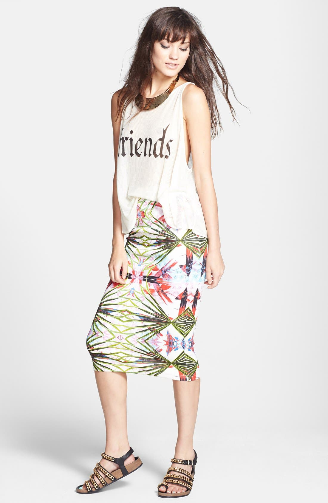 Alternate Image 3  - Wildfox 'Friends' Sheer Ribbed Tank