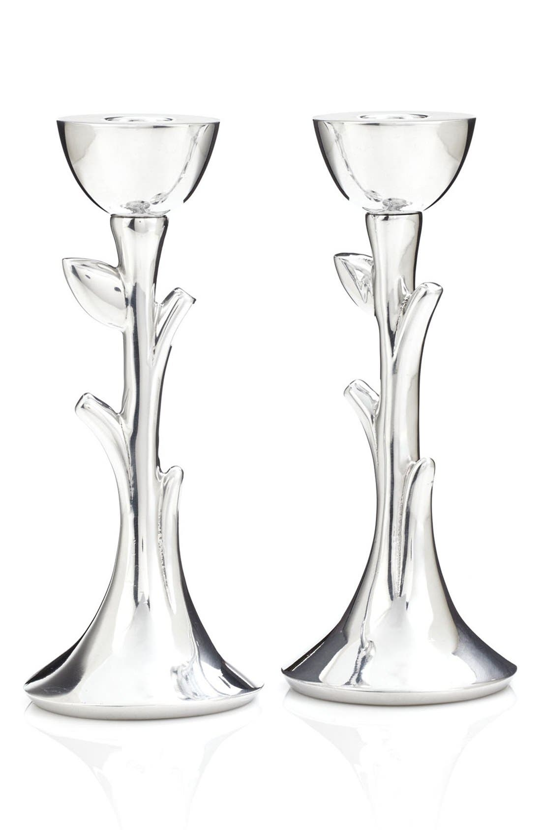 Nambé 'Tree of Life' Sabbath Candlesticks (Set of 2)