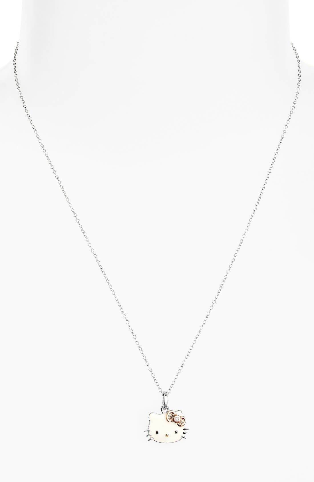 Alternate Image 2  - Hello Kitty® Diamond Pendant Necklace (Nordstrom Exclusive)