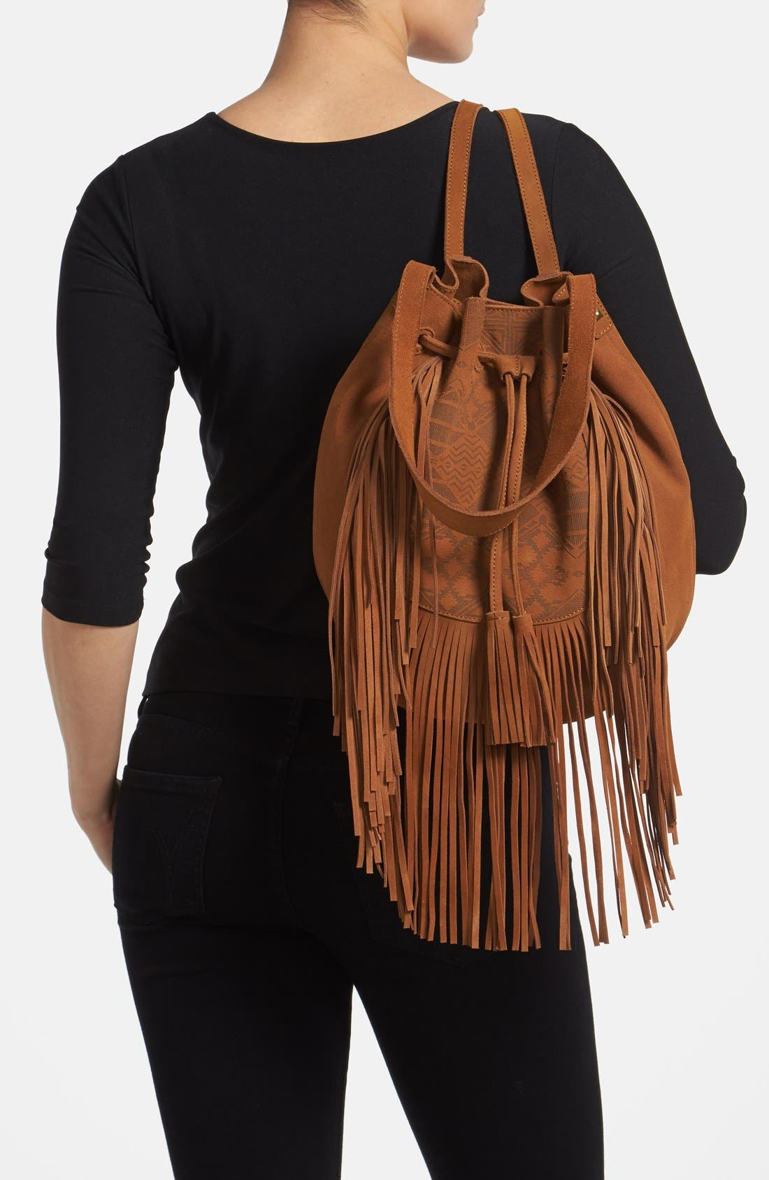 Alternate Image 2  - Steve Madden Fringed Shoulder Bag