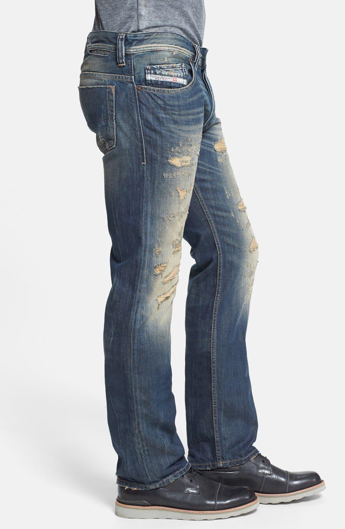 Alternate Image 3  - DIESEL® 'Safado' Slim Fit Jeans (0608C)