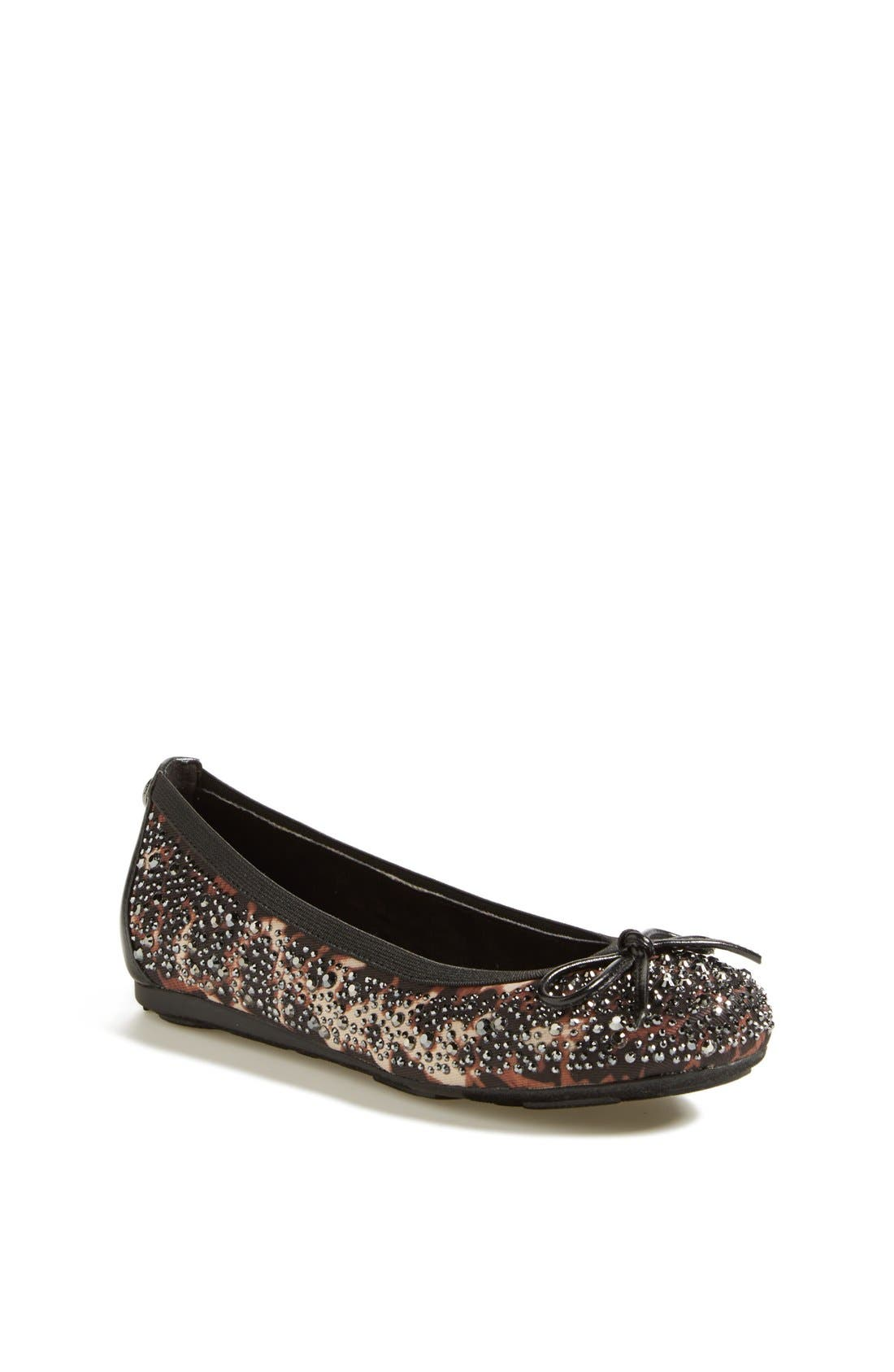 Main Image - Stuart Weitzman 'Fannie Crystal' Flat (Online Only) (Little Kid & Big Kid)