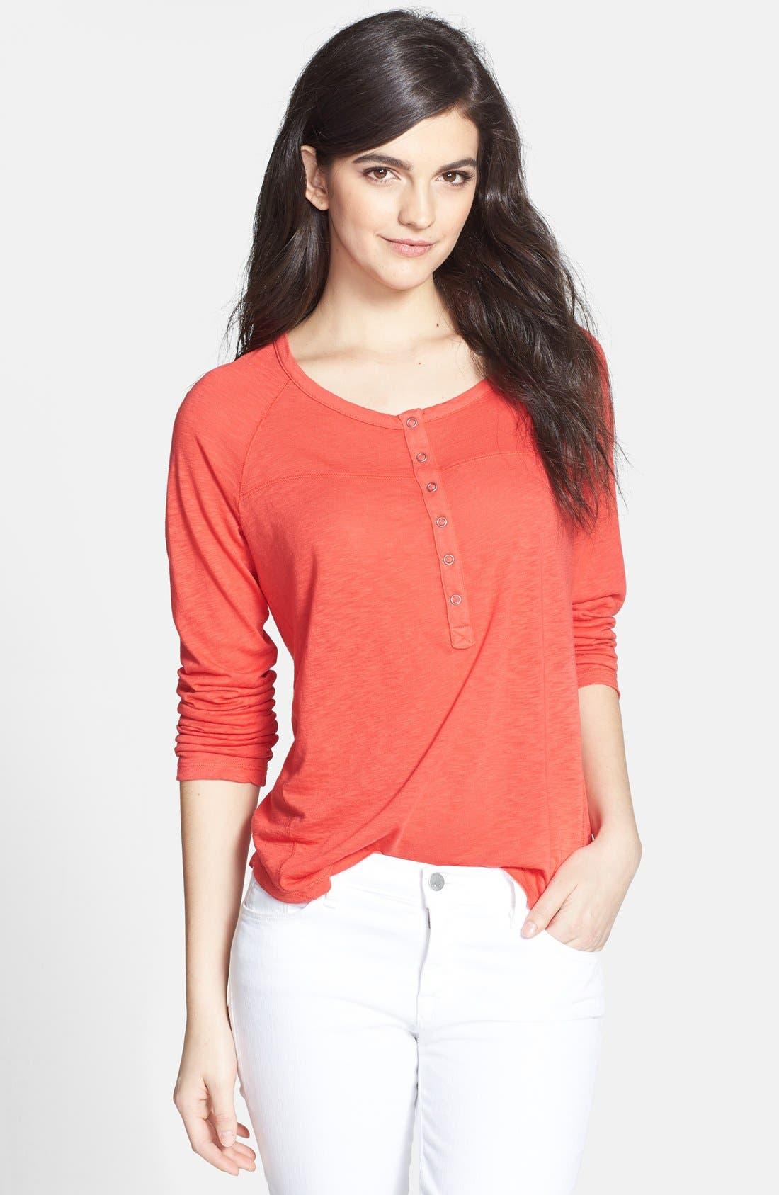 Main Image - Splendid Slub Knit Cotton Blend Top