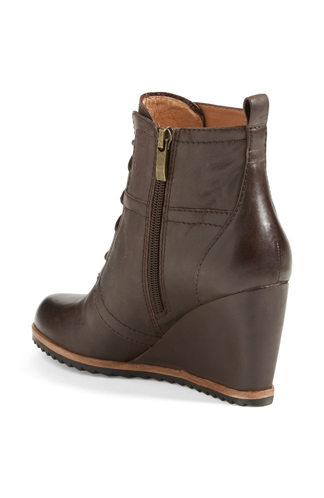 Alternate Image 2  - Biala 'Alyssa' Lace-Up Wedge Boot (Women)