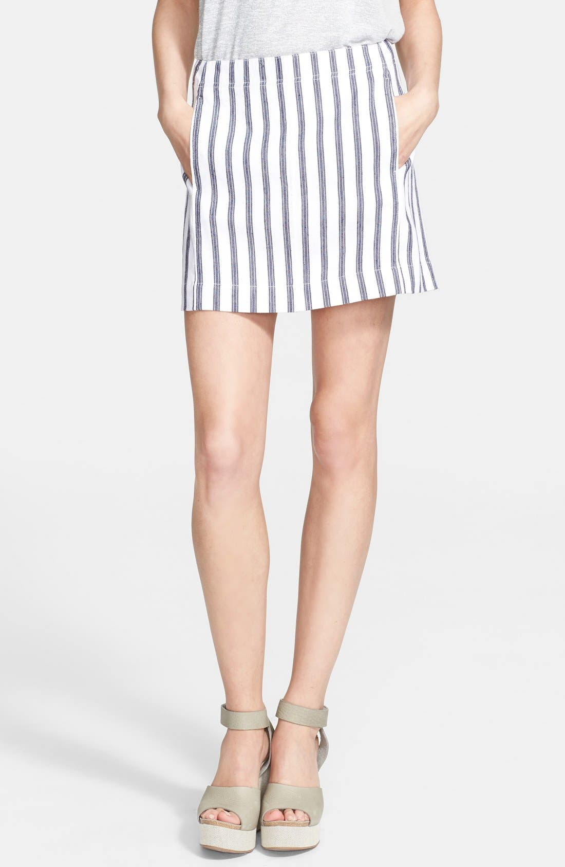 Alternate Image 1 Selected - Theory 'Matai' Stripe Skirt