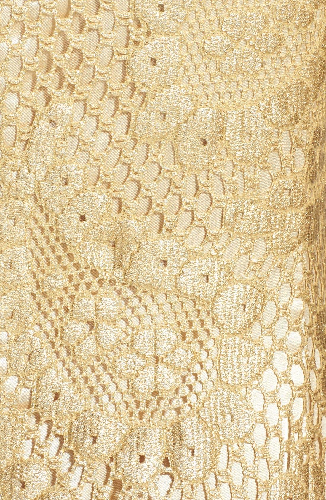 Alternate Image 4  - Lilly Pulitzer® 'Eaton' Metallic Paisley Shift Dress