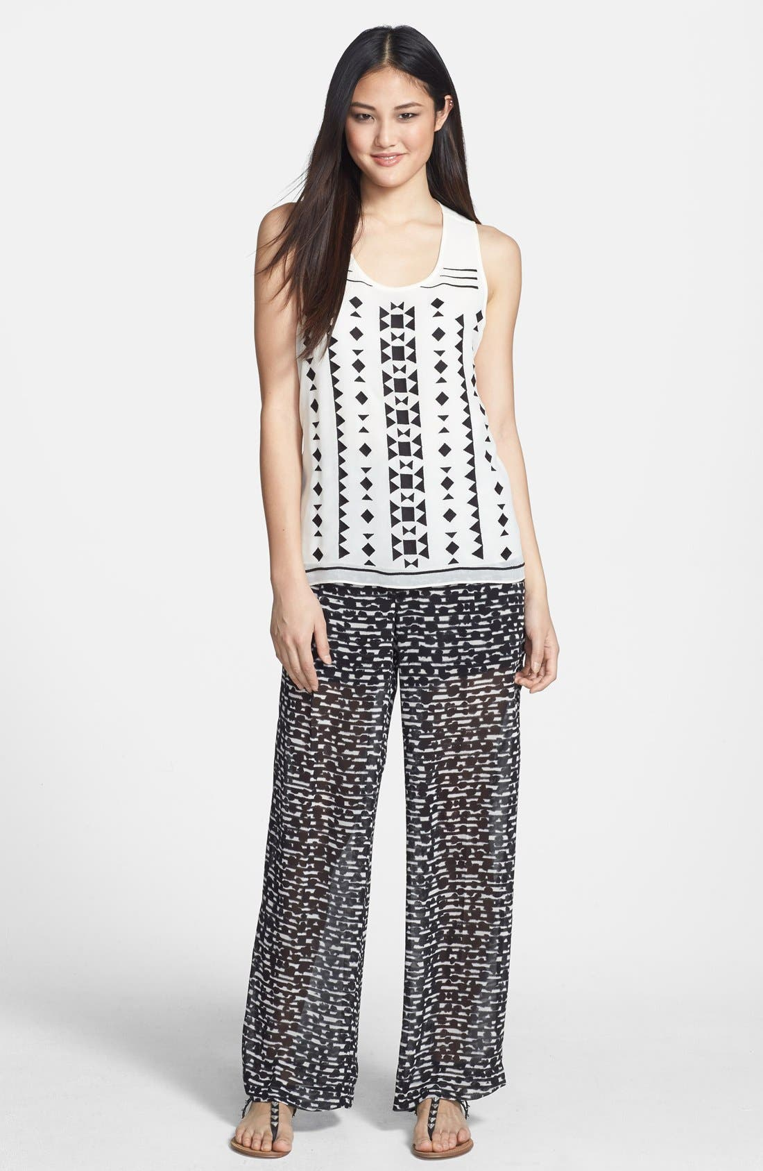 Alternate Image 4  - Vince Camuto Embroidered Woven Tank