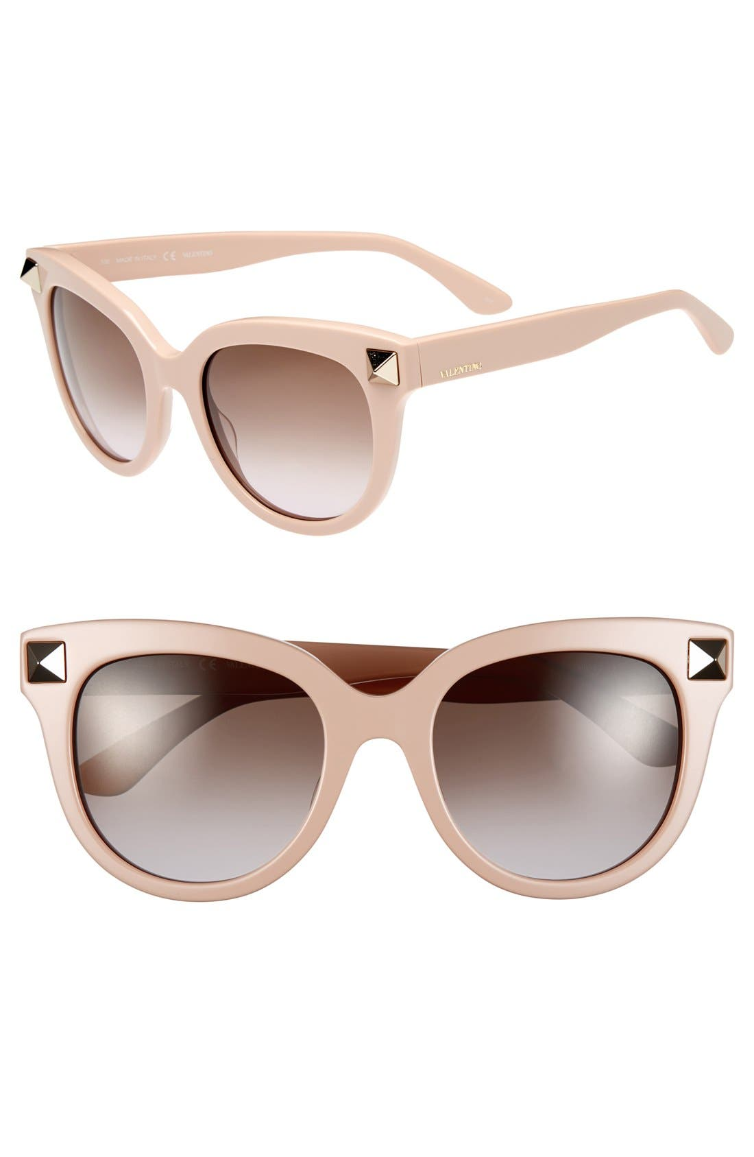 Main Image - Valentino 'Rockstud' 52mm Studded Sunglasses
