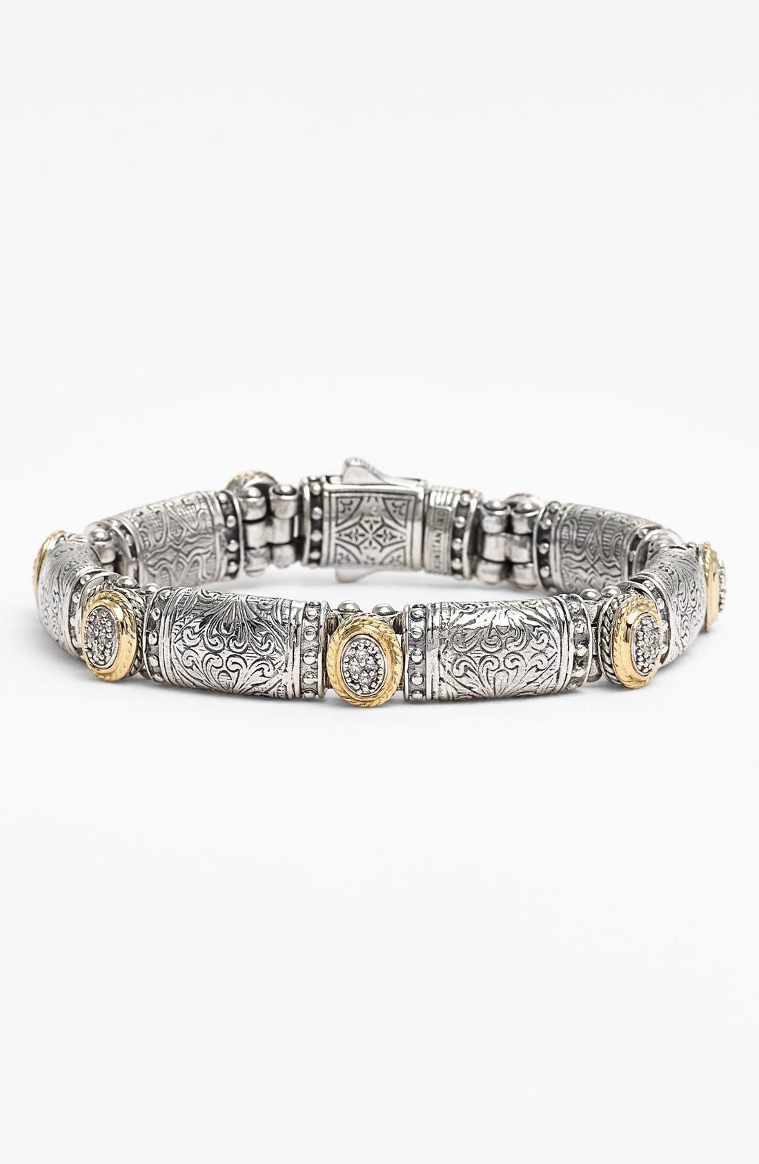 'Classics' Diamond Bracelet,                             Main thumbnail 1, color,                             Silver/ Gold