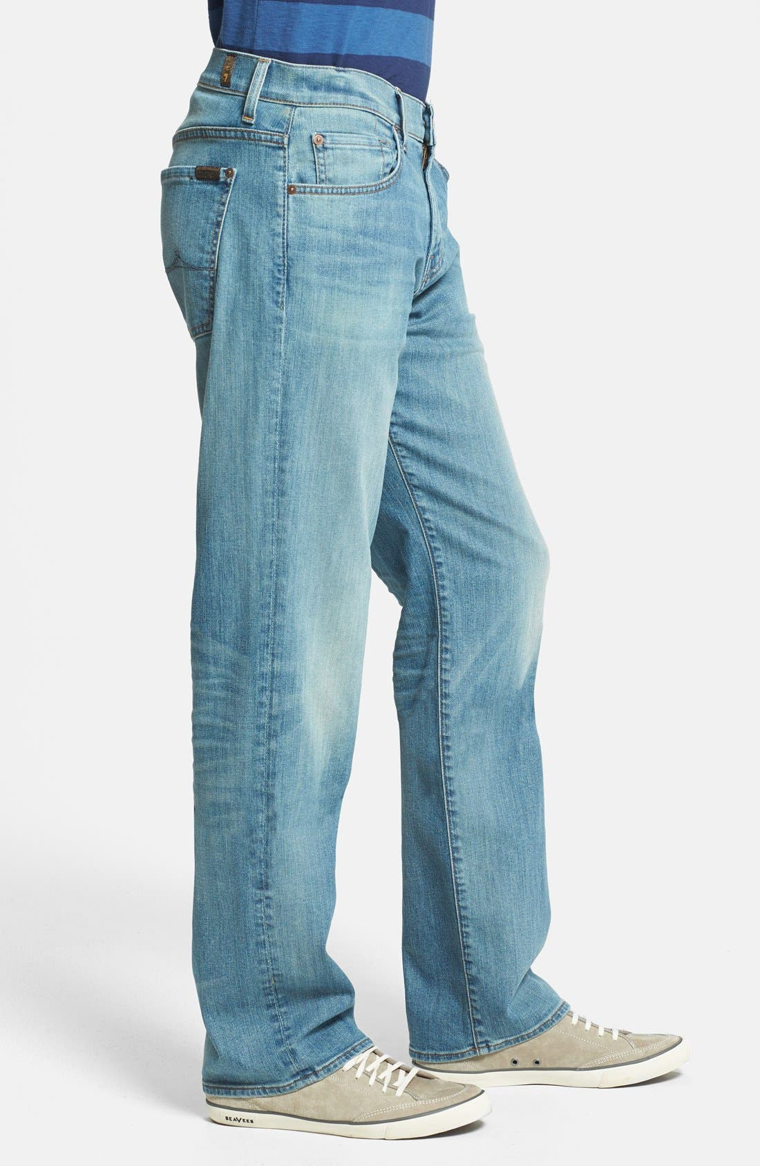 Alternate Image 3  - 7 For All Mankind® 'Austyn' Relaxed Straight Leg Jeans (Authentic Vintage Blue)