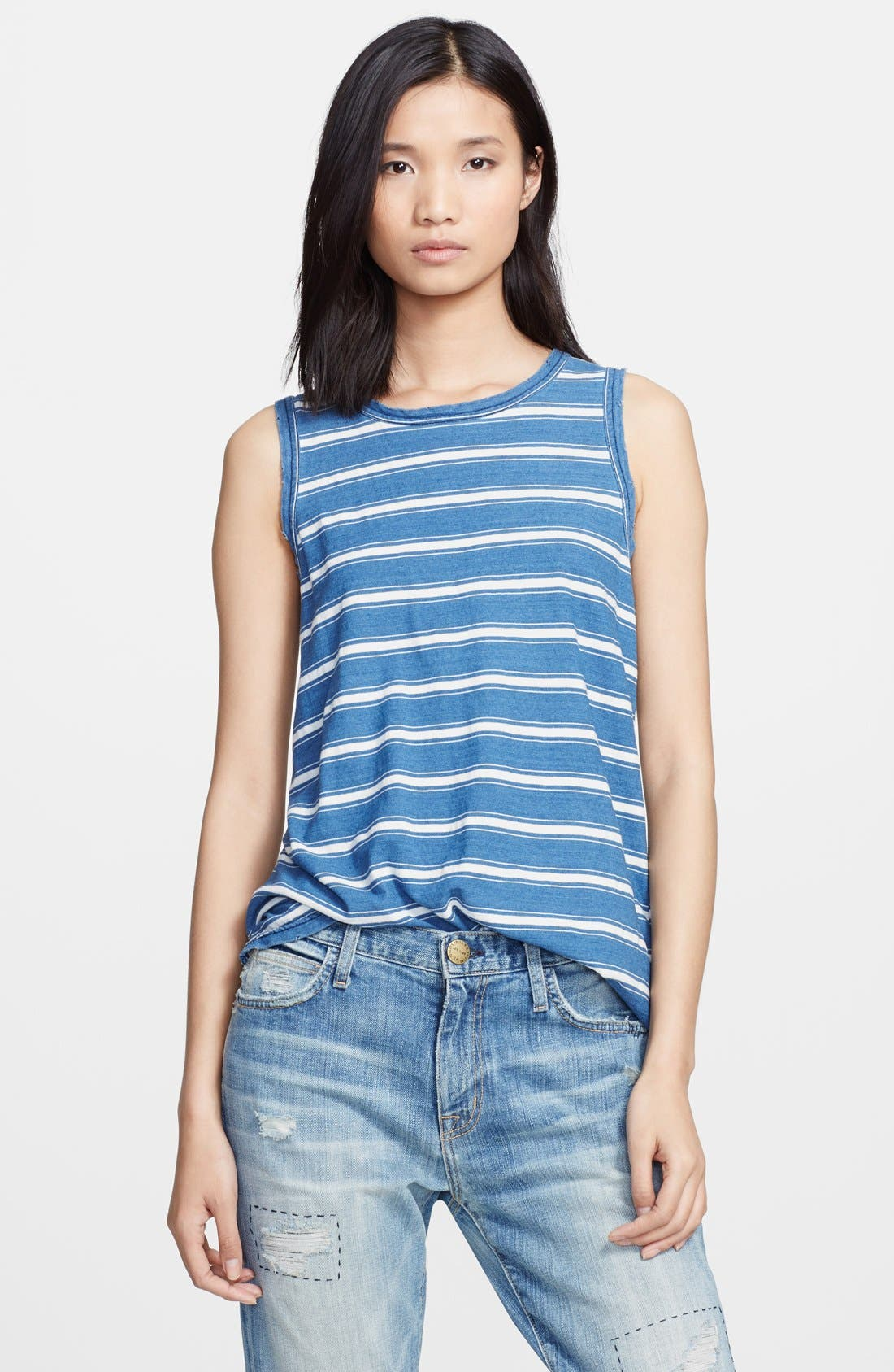 Alternate Image 1 Selected - Current/Elliott 'The Muscle Tee' Stripe Tank