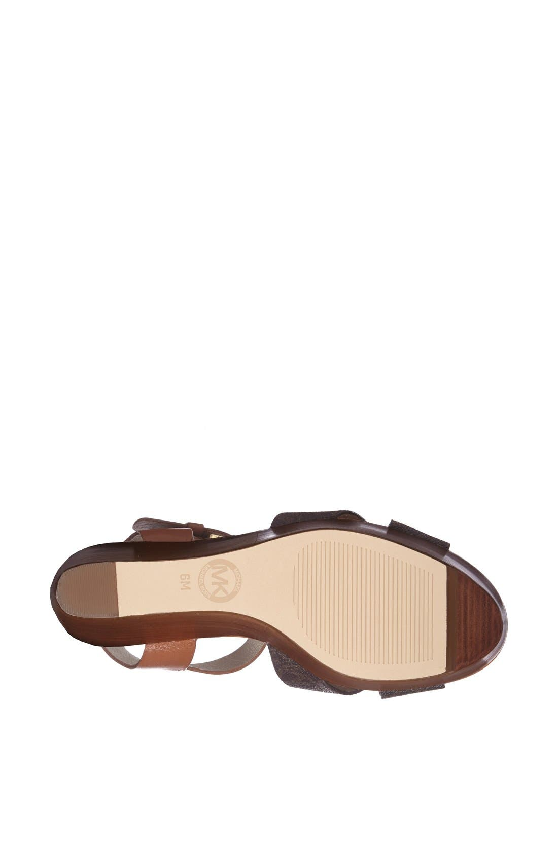 Alternate Image 4  - MICHAEL Michael Kors 'Peggy' Wedge Sandal