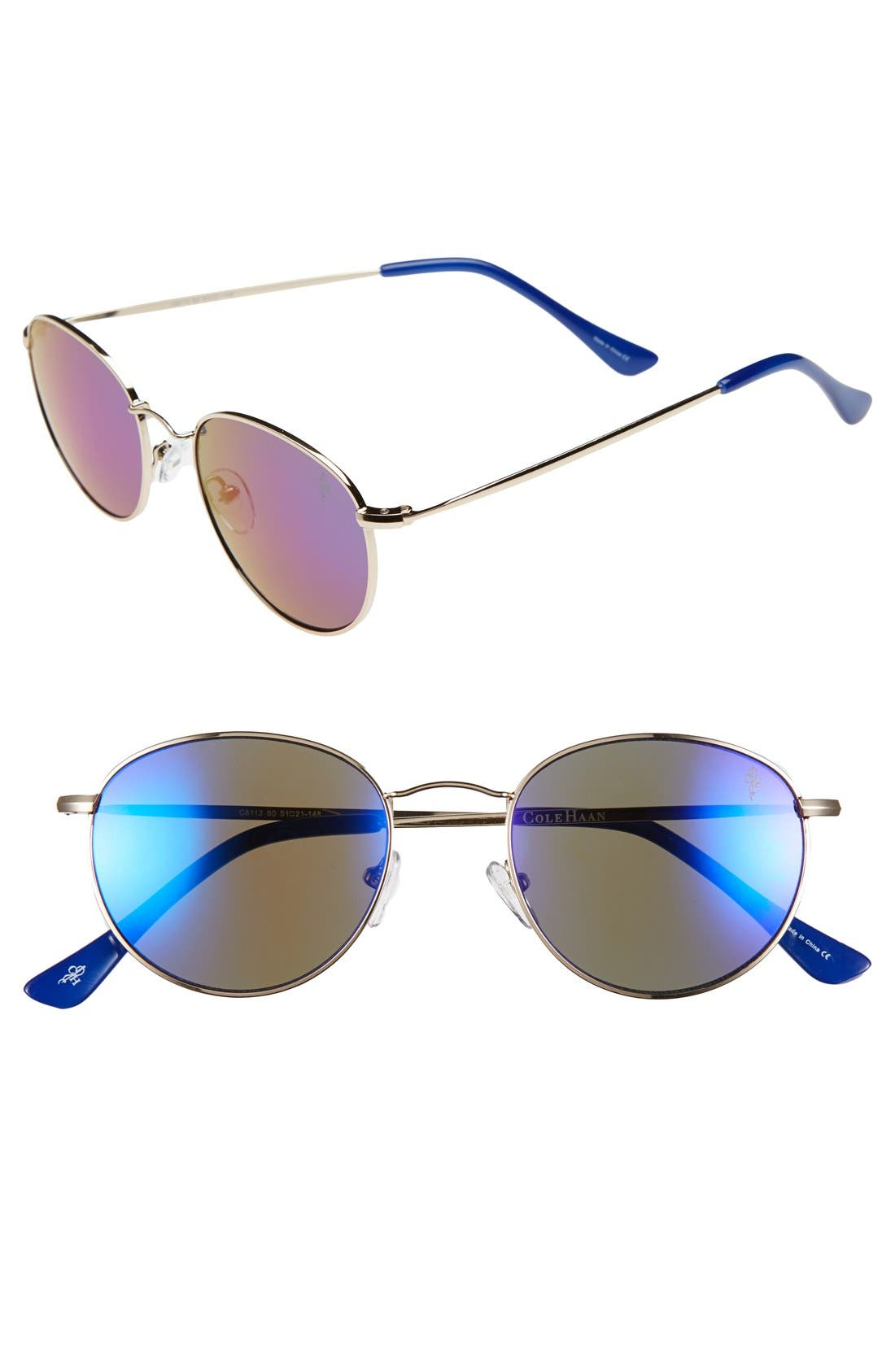 Alternate Image 1 Selected - Cole Haan 51mm Round Sunglasses