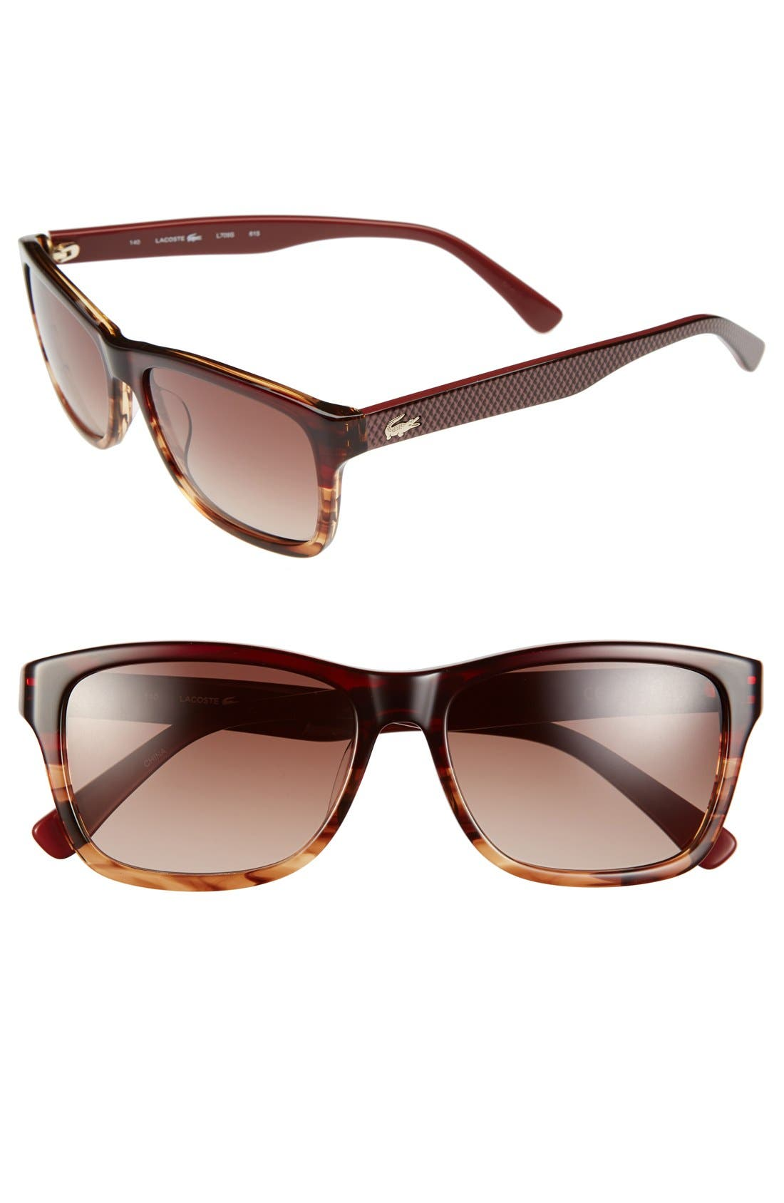 Main Image - Lacoste 55mm Rectangular Sunglasses