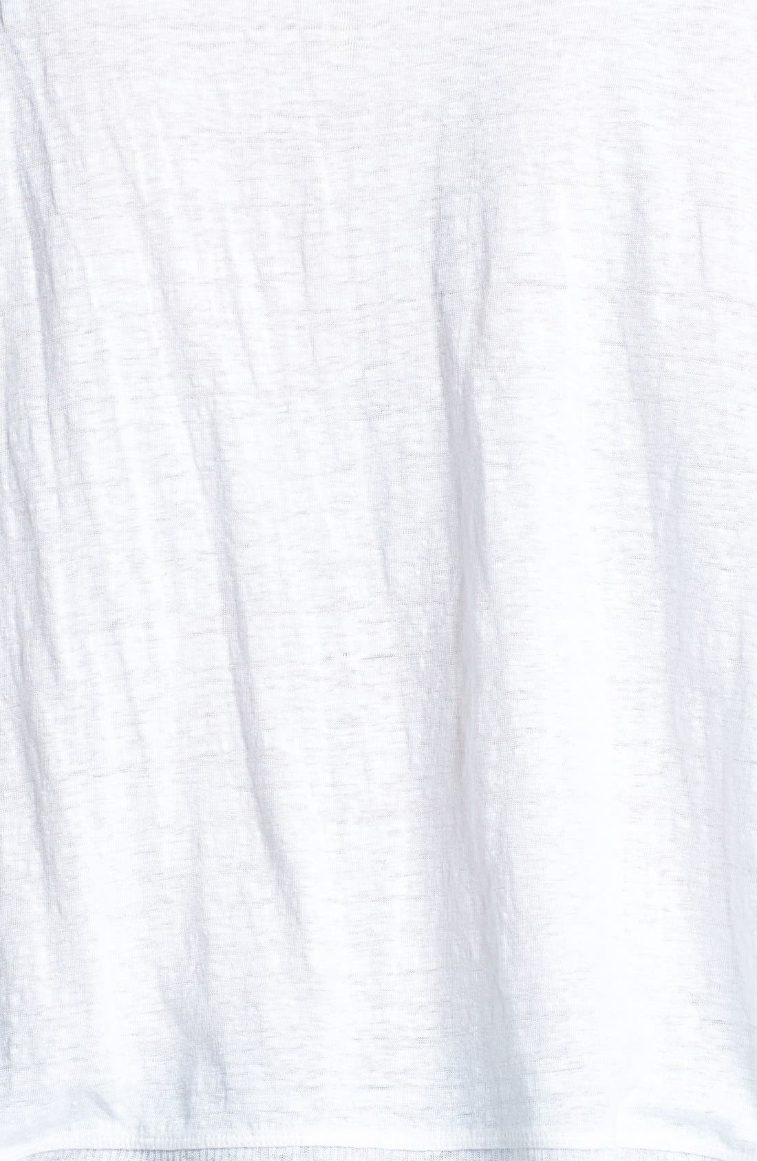 Alternate Image 3  - Eileen Fisher Organic Linen Jersey Bateau Top (Plus Size)