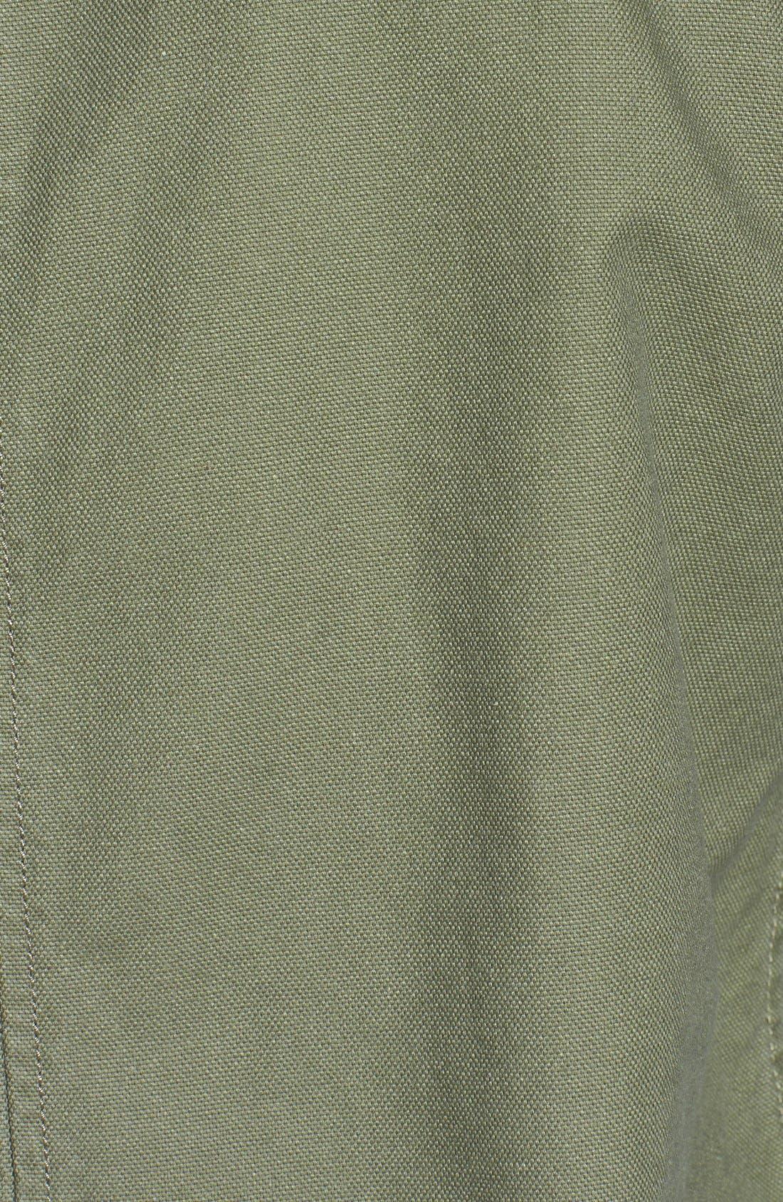 Alternate Image 2  - Timberland Coated Canvas Bomber Jacket (Online Only)