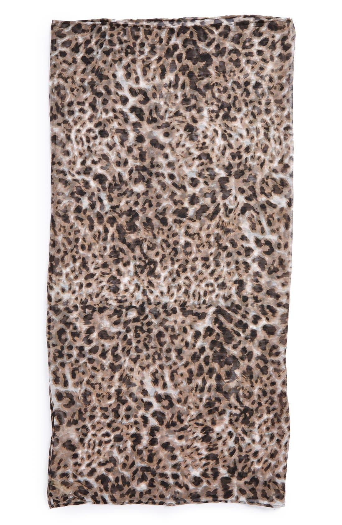 Alternate Image 2  - Collection XIIX Leopard Print Infinity Scarf