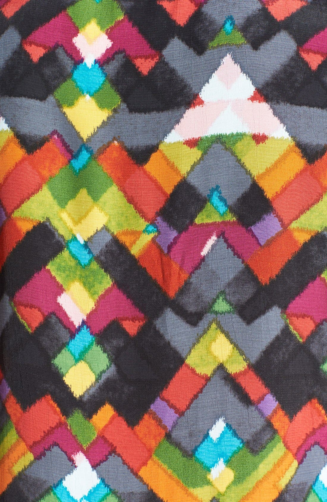 Alternate Image 3  - WAYF Diamond Print Crepe V-Neck Shift Dress
