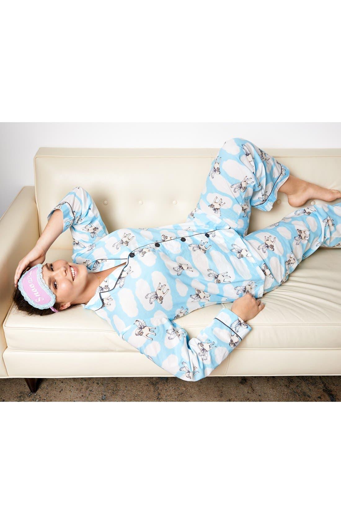 Alternate Image 5  - PJ Salvage 'Playful Prints' Cotton Voile Pajamas (Plus Size)