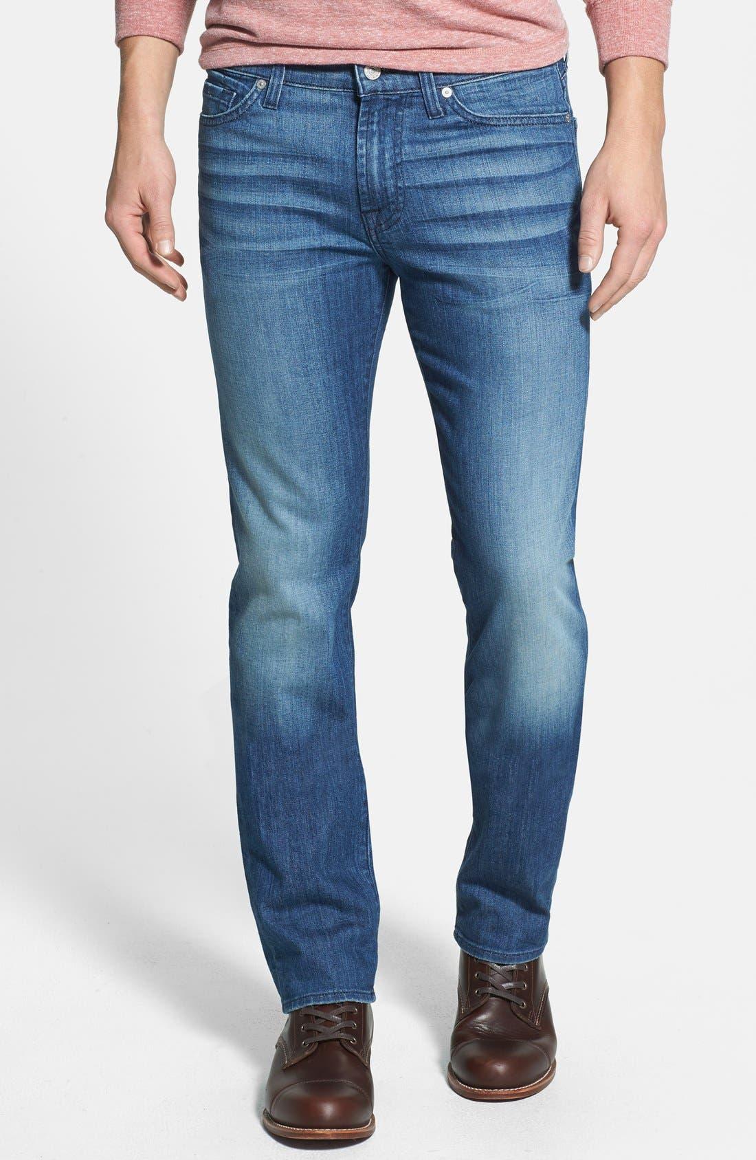 Main Image - 7 For All Mankind® 'Slimmy' Slim Straight Leg Jeans (Delridge Indigo)