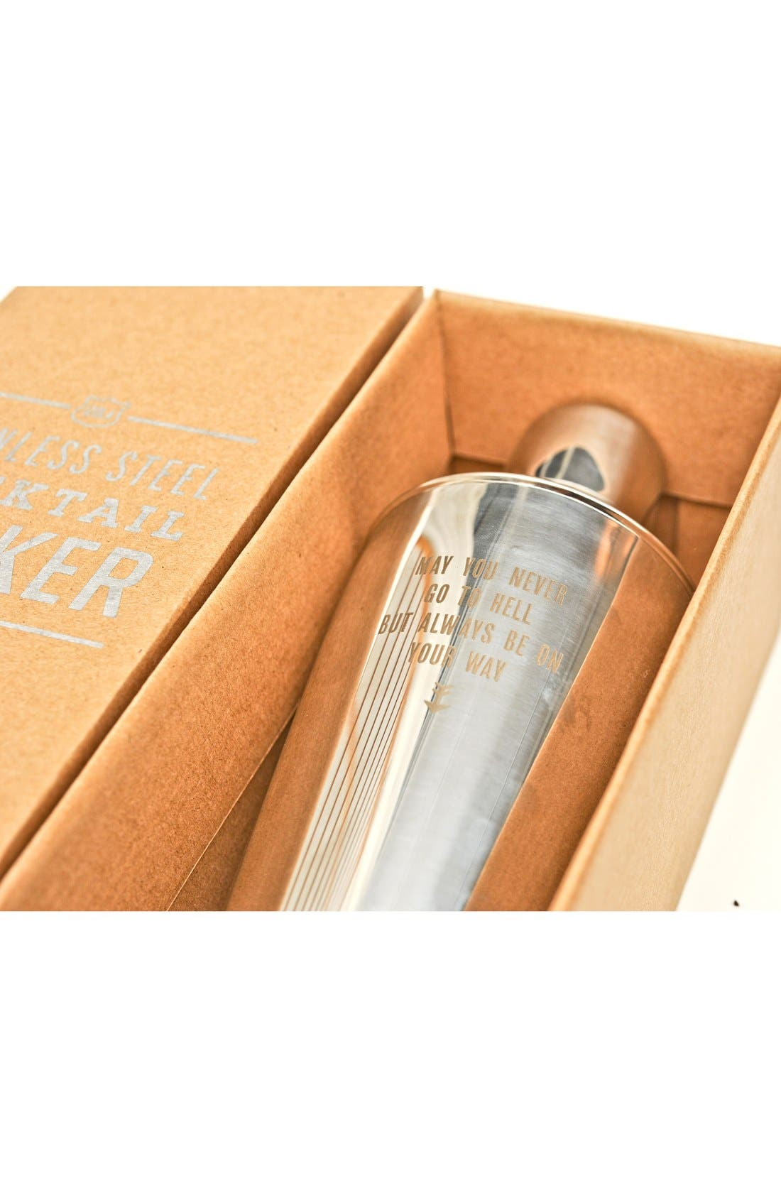Alternate Image 2  - Izola 'May You Never' Stainless Steel Cocktail Shaker