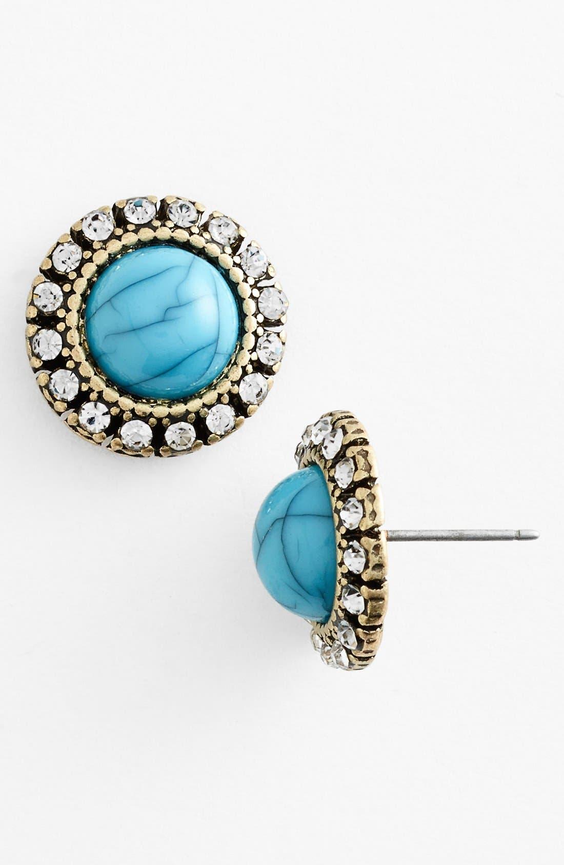 Alternate Image 1 Selected - BP. Stone Stud Earrings (Juniors)