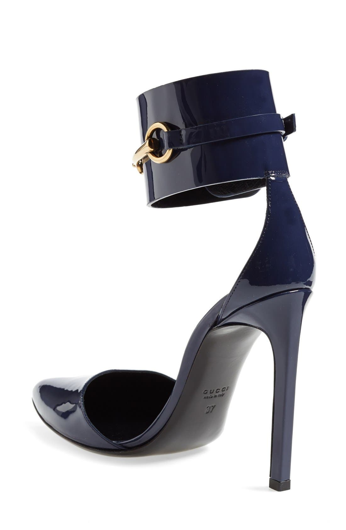 Alternate Image 2  - Gucci 'Ursula' Ankle Cuff Pointy Toe Pump