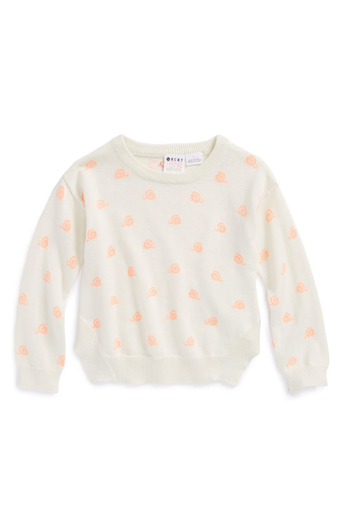 Alternate Image 1 Selected - Roxy 'Sea Pine' Sweater (Toddler Girls)