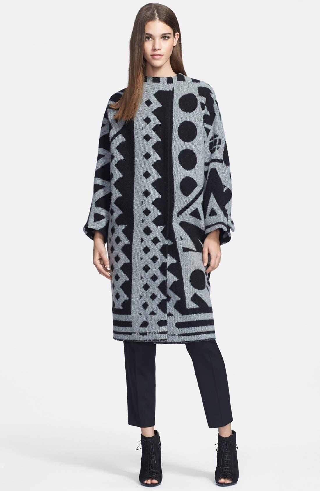 Alternate Image 3  - Burberry Prorsum Jacquard Wool & Cashmere Blanket Coat