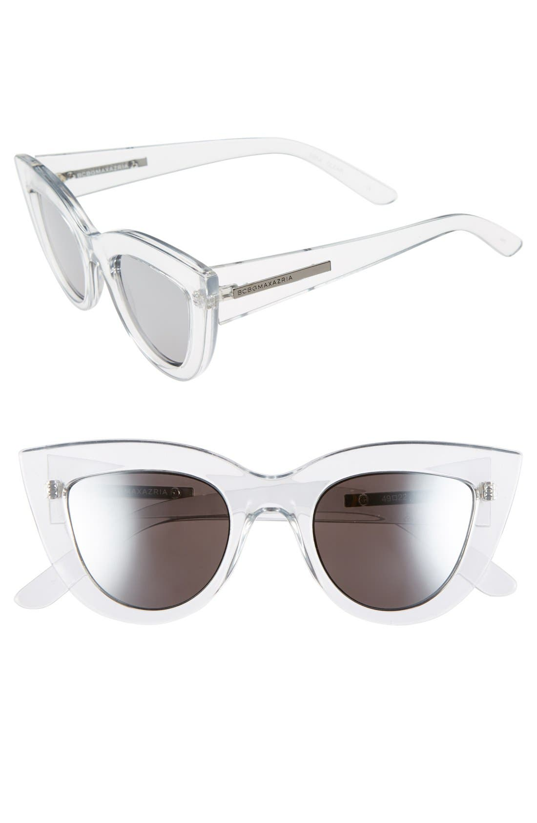 Alternate Image 1 Selected - BCBGMAXAZRIA 49mm Cat Eye Sunglasses