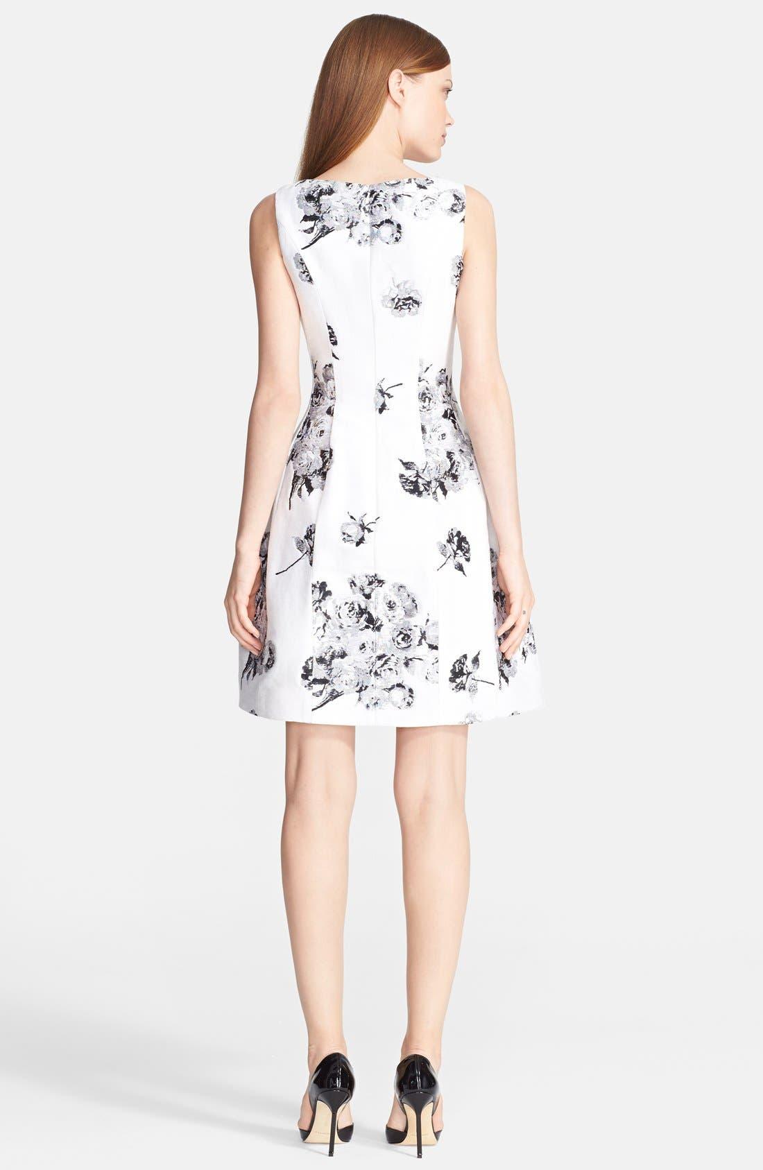 Alternate Image 2  - Prabal Gurung Rose Jacquard Dress