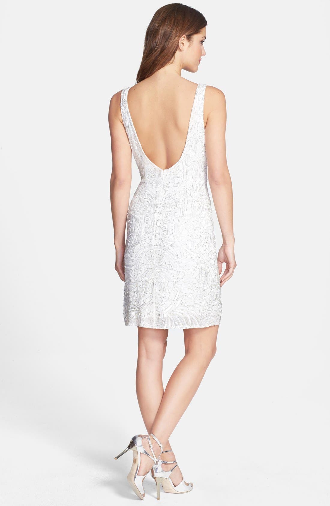 Alternate Image 2  - Aidan Mattox Short Beaded Dress