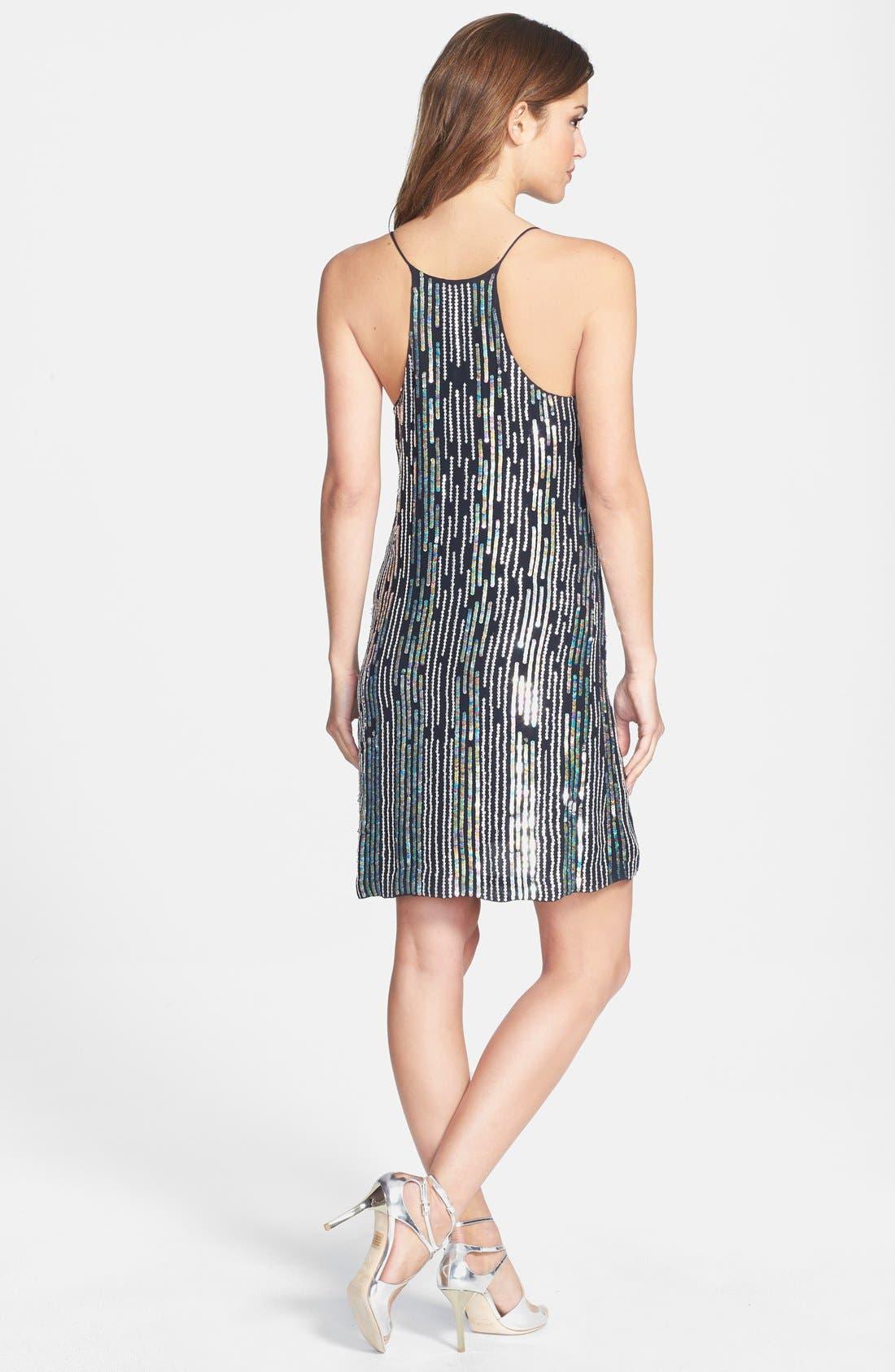 Alternate Image 2  - Nicole Miller Sequin Slipdress