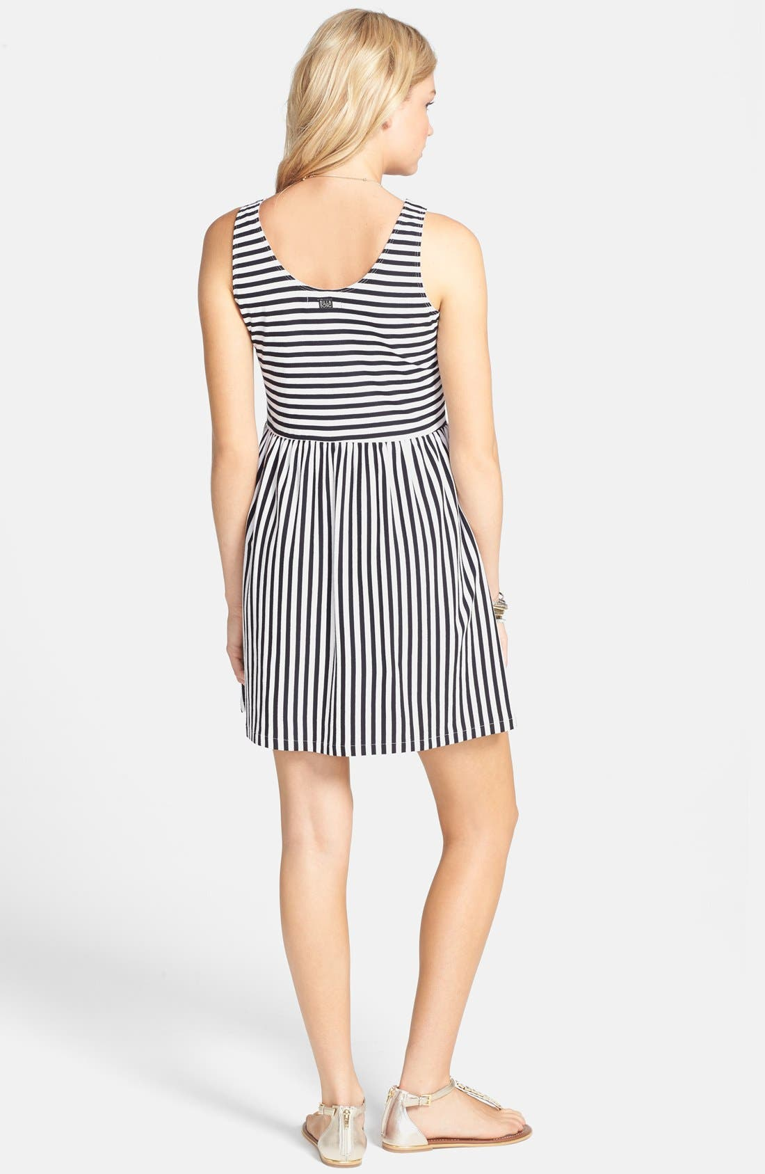 Alternate Image 2  - Billabong 'Early Sunshine' Stripe Skater Dress (Juniors)