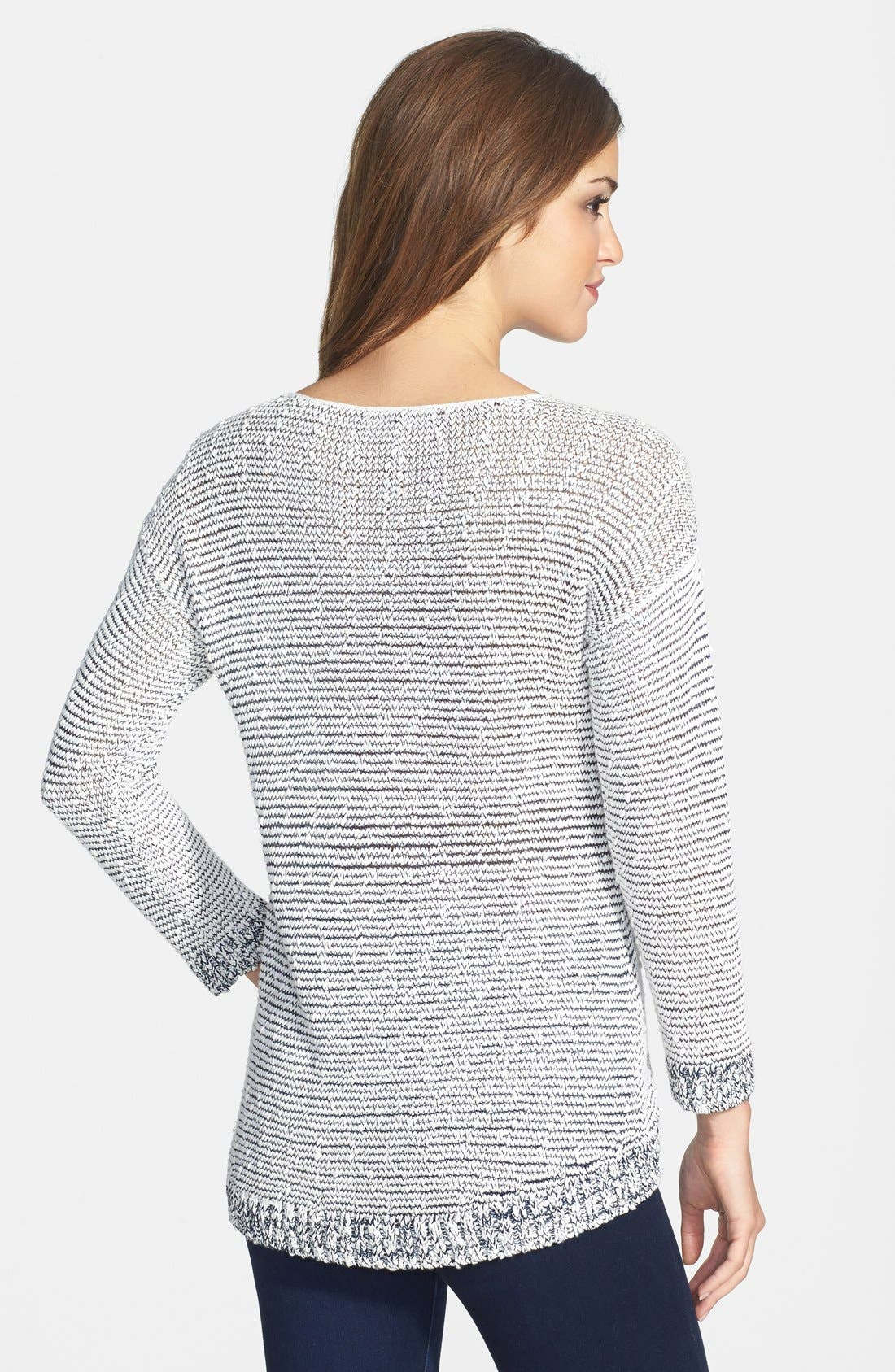 Alternate Image 2  - Two by Vince Camuto Slub Cotton Blend Tape Yarn Sweater
