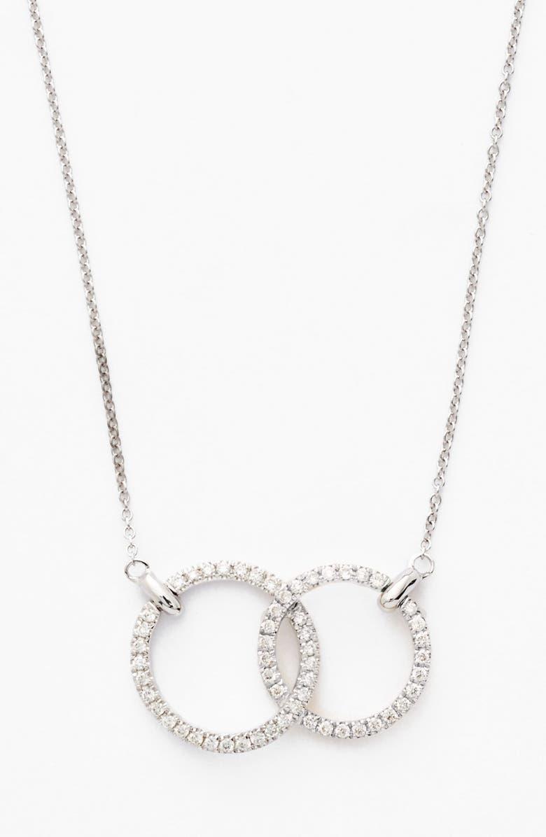 Bony levy double diamond circle pendant necklace nordstrom double diamond circle pendant necklace aloadofball Gallery