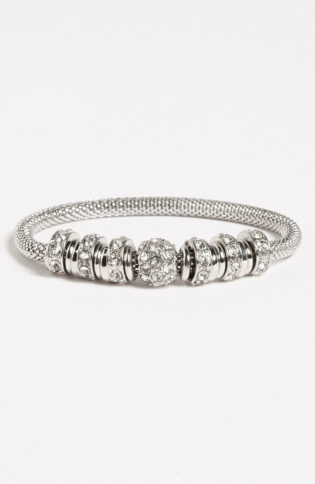Alternate Image 2  - Anne Klein Crystal Stretch Bracelet