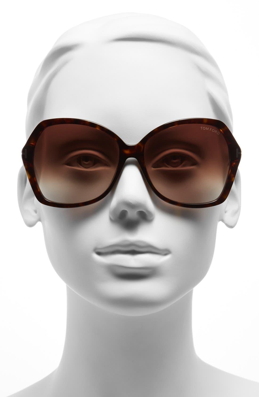 Alternate Image 2  - Tom Ford Carola 60mm Sunglasses