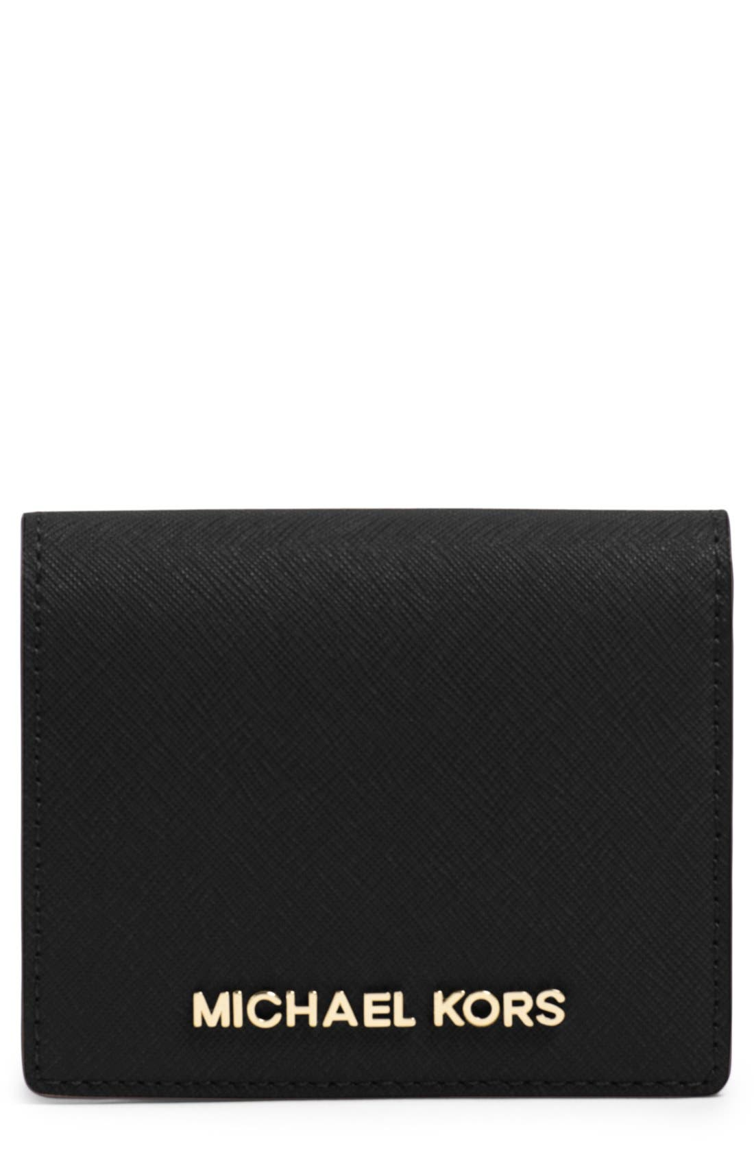 MICHAEL Michael Kors 'Jet Set' Saffiano Leather Wallet