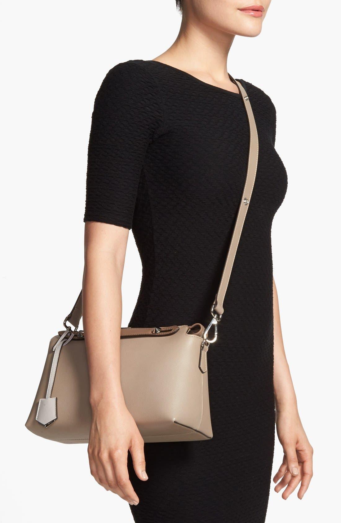'Bauletto Piccolo' Leather Crossbody Bag,                             Alternate thumbnail 2, color,                             Turtledv Sepia Palladuim