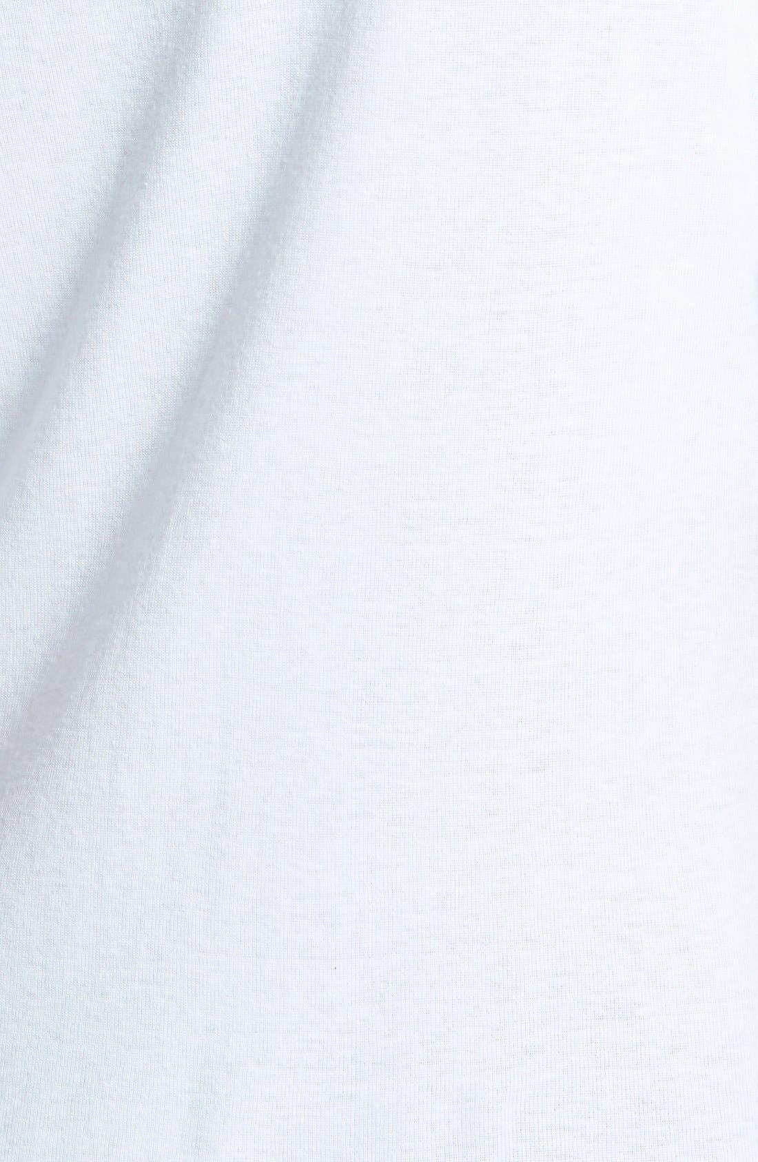 Alternate Image 3  - Velvet by Graham & Spencer Fine Rib Half Sleeve Tee