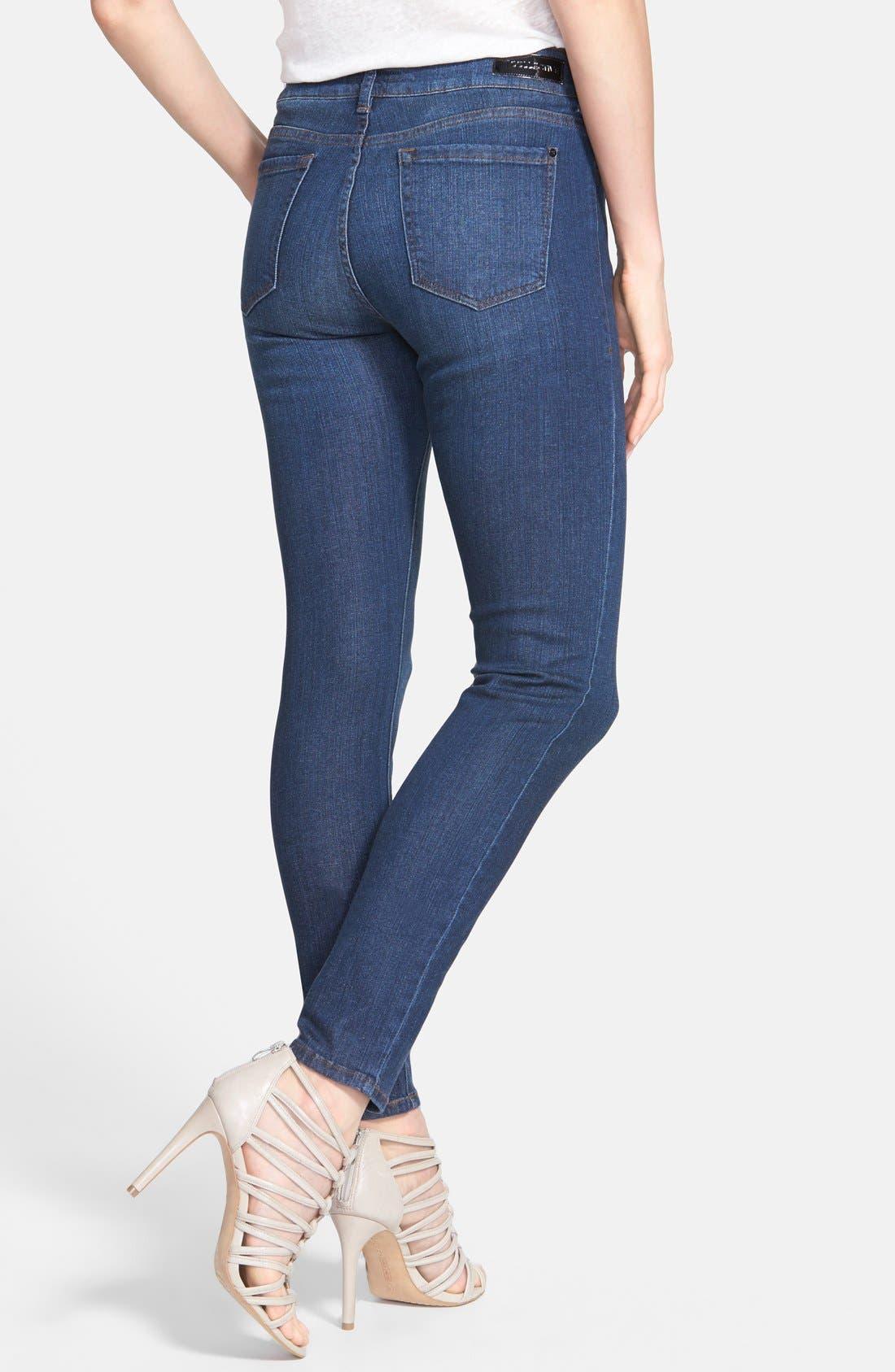 Alternate Image 2  - !iT Collective 'Lauren' Stretch Skinny Jeans (Blue Velvet)