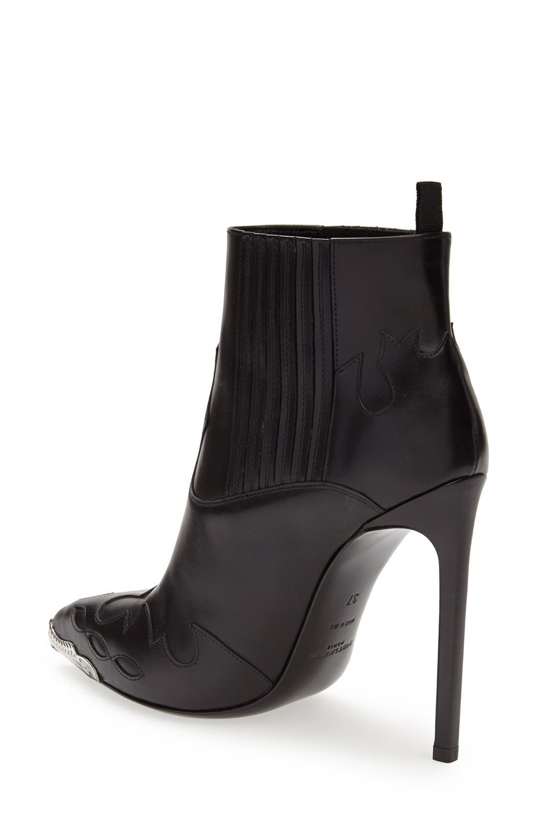 Alternate Image 2  - Saint Laurent Metallic Toe Bootie (Women)