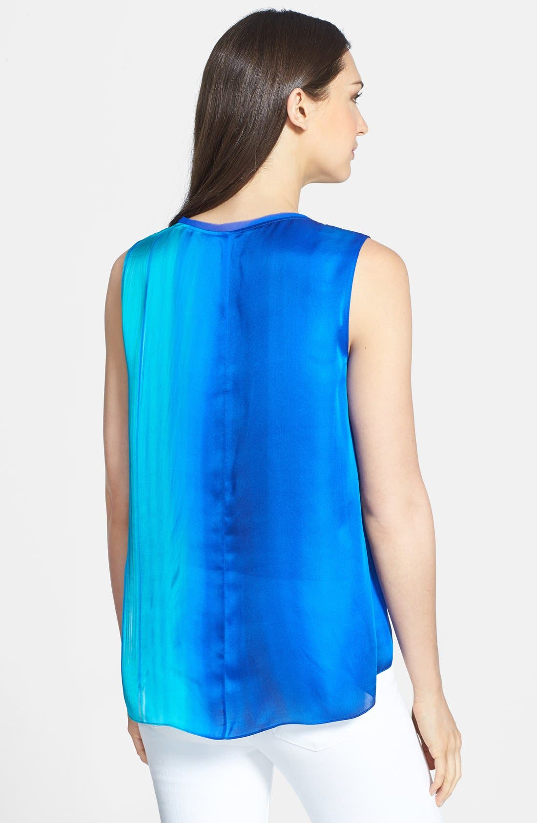 Alternate Image 2  - Elie Tahari 'Chase' Sleeveless Silk Blouse