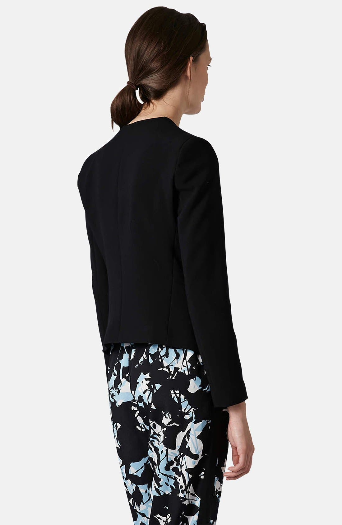 Alternate Image 2  - Topshop Open Front Blazer