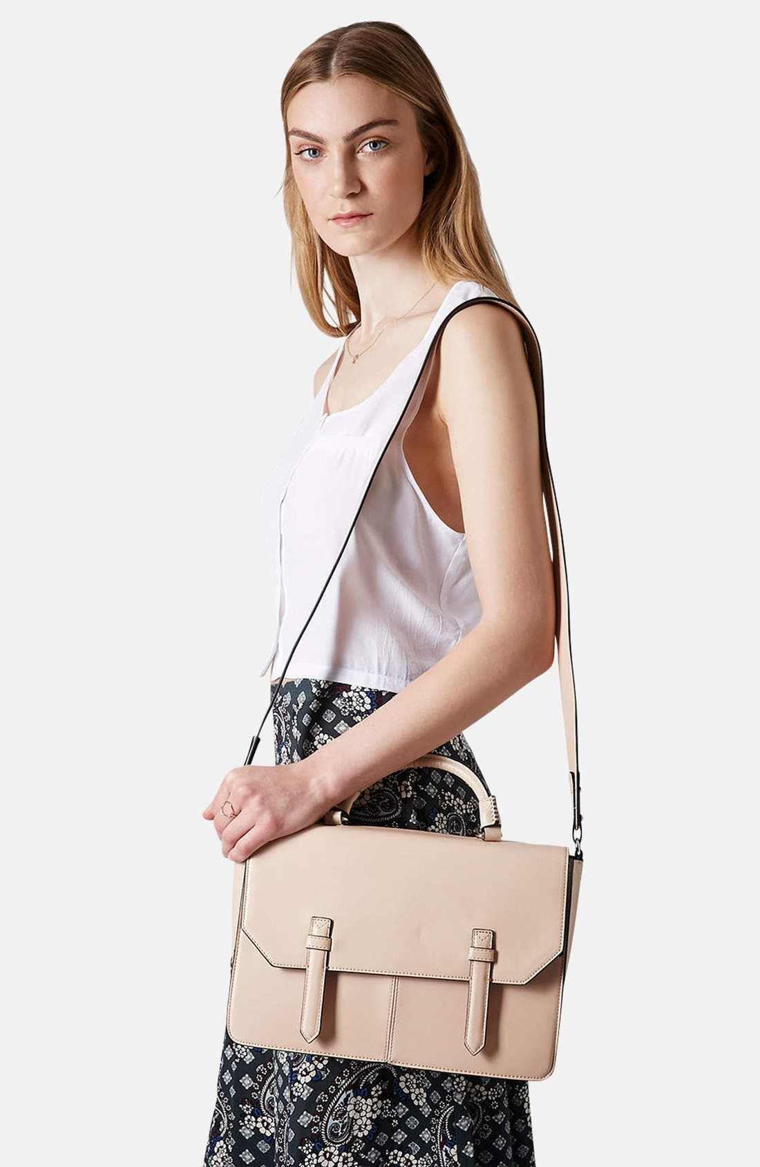 Alternate Image 2  - Topshop 'Clean' Faux Leather Satchel