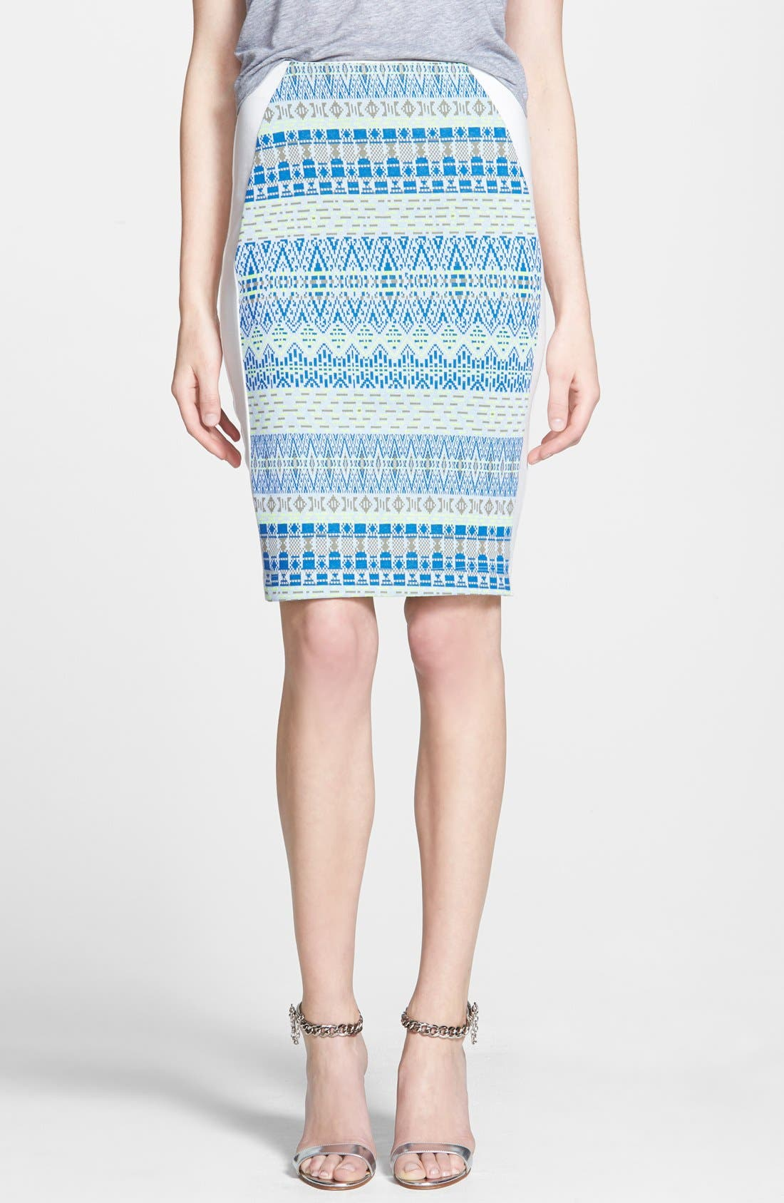 Alternate Image 1 Selected - Ella Moss 'Paz' Print Pencil Skirt